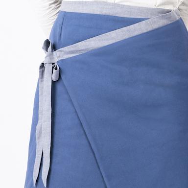 jupe 2 en 1 reversible cote bleu vif uni