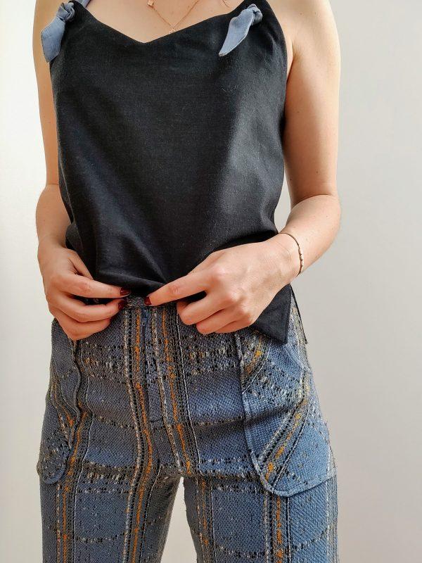 top reverso anthracite/jacquard - anthracite porté avec le pantalon large