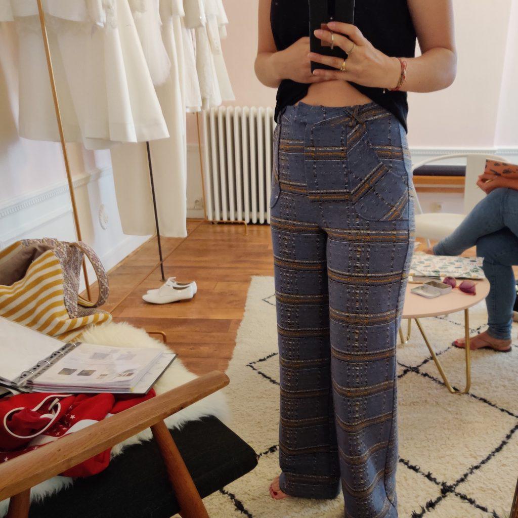 Amande C - création d'un vêtement - le vetement voit le jour