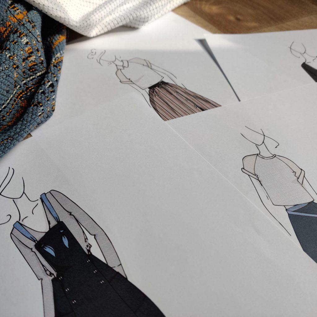 Amande C - création d'un vêtement - une inspiration et tout commence